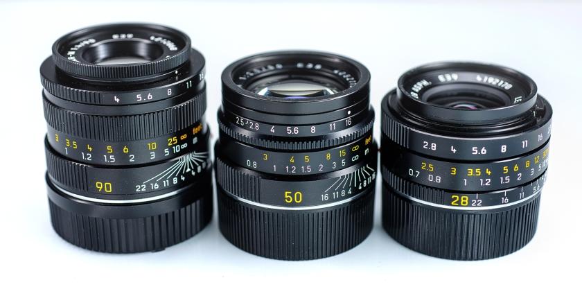 Leica 90mm, 50mm, 28mm ..jpg